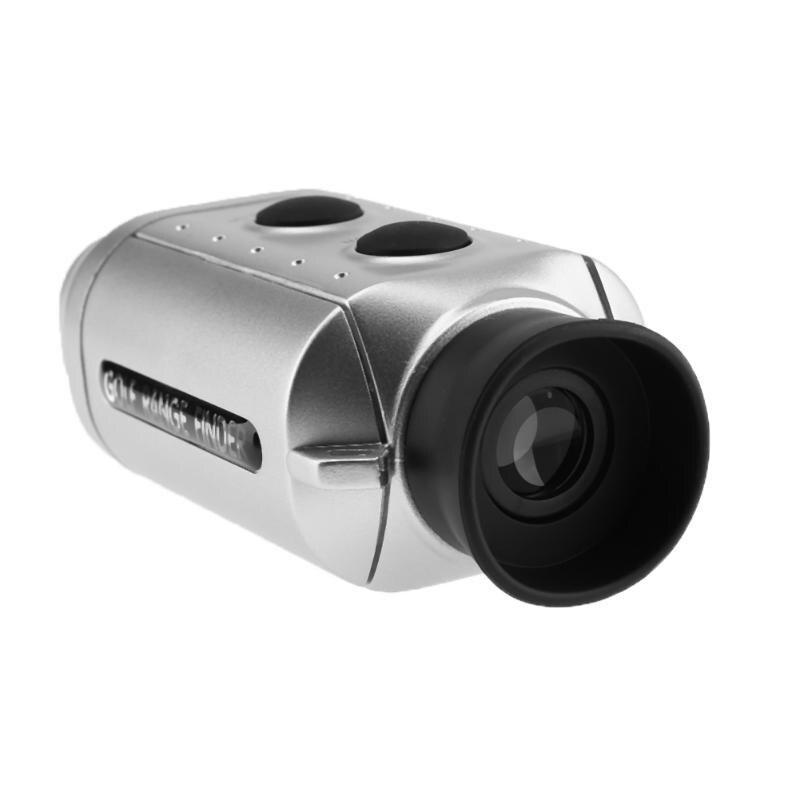 Láser Digital telémetro telescopio Pocket Golf Range Finder para la caza Golf Scope patios herramienta de medición de distancia