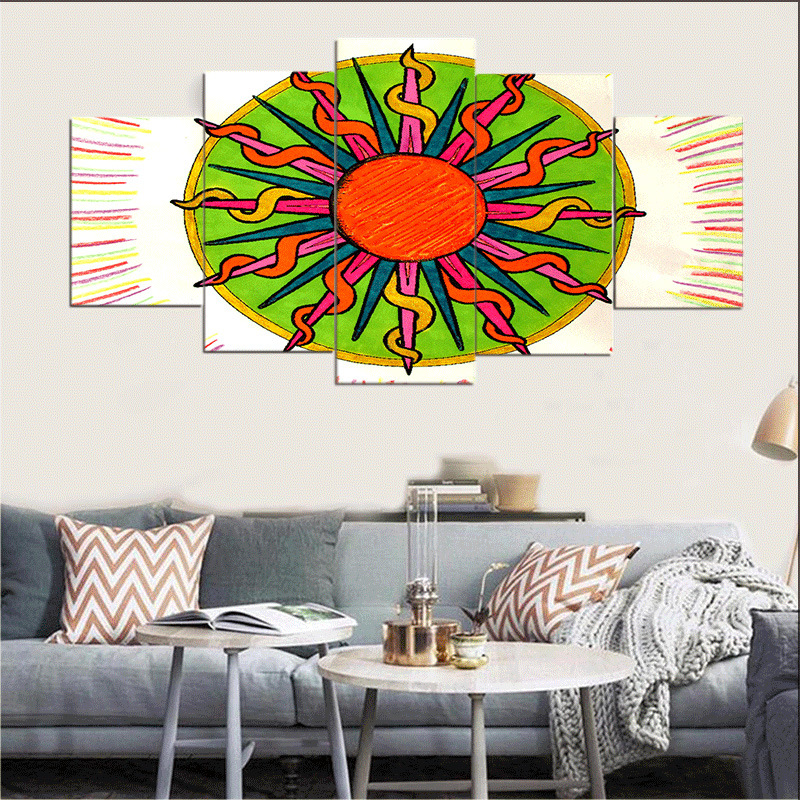 Painting & Calligraphy Sun Canvas Poster Nursery Wall Art Print Painting Nordic Picture Children Bedroom Decoration MA14