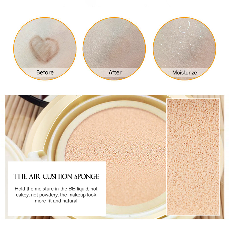 ROREC Air cushion BB Cream Isolation bb Nude Concealer Liquid Foundation Primer Cover Pores Face CC cream Long lasting Brighten in BB CC Creams from Beauty Health