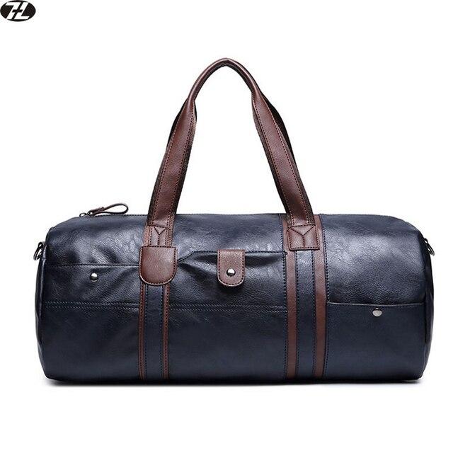 Bolsa de lona de los hombres bolsa de viaje de cuero de alta calidad de los hombres crossbody tote bolso bolsa feminina mensajero de los hombres de hombro bolsa de Ordenador Portátil