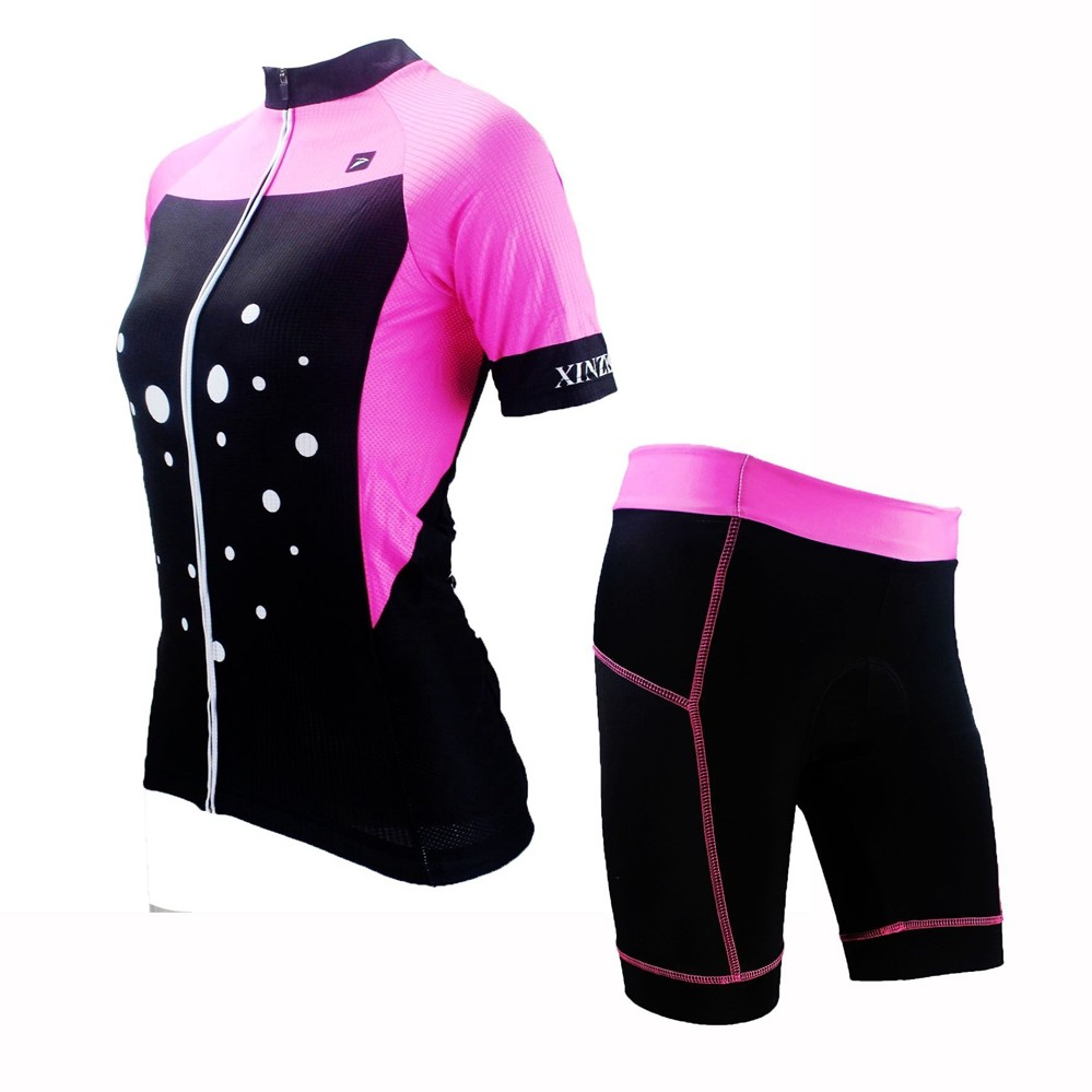 New Women Cycling Jersey And Bib Shorts Set Cycling Clothing