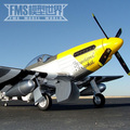 Envergadura 1700 MM P51 FMS Frank Amarelo Controle Remoto Avião Modelo de Aeronave de Asa Fixa