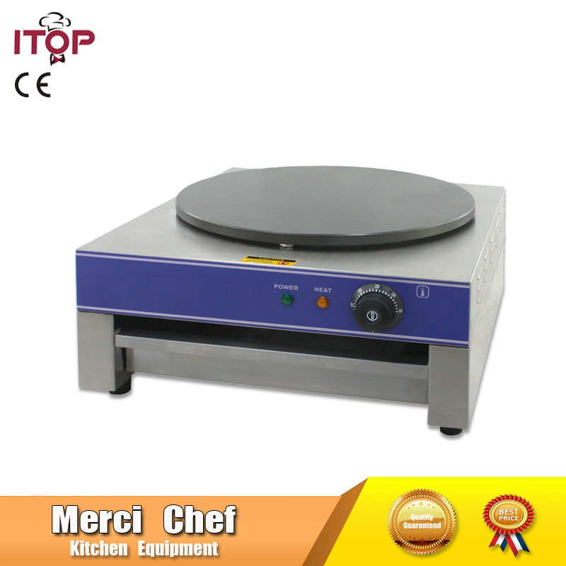 все цены на Hot sales Food Machine Electric Crepe Maker/ Baking Crepe Machine Food Processing household and Commercial  Machine Quality Good онлайн