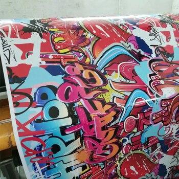Fashion Style Graffiti Sticker Bomb Car Wrap Foil For Motor Car Suitcase Skateboard Bike StickerBomb JDM Camouflage Vinyl Film
