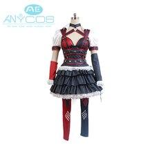 Hot Sale Batman: Arkham Knight Harley Quinn Uniform Shirt Skirt Pants Movie Halloween Cosplay Costumes For Women