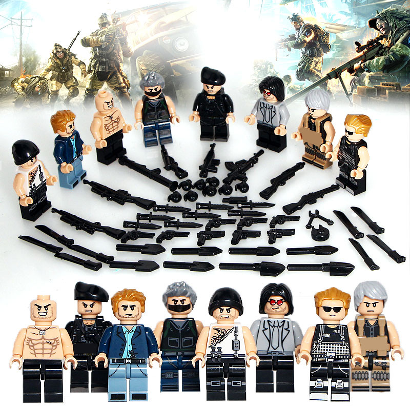 Shadow Task Force MILITARY SWAT Soldier World War 2 Army Weapon Gun Building Blocks Figures Bricks Boy Educational Toy Kid Gift swat world war gun weapon car army military soldiers police special force building gift play cars assembling action figures
