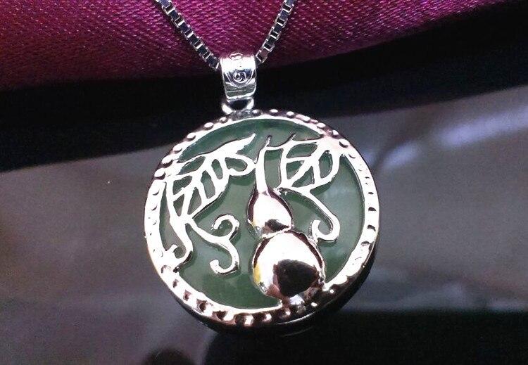 ⑧Кальян для Удачи Нефрита Кулон Ожерелья Стерлингового ...