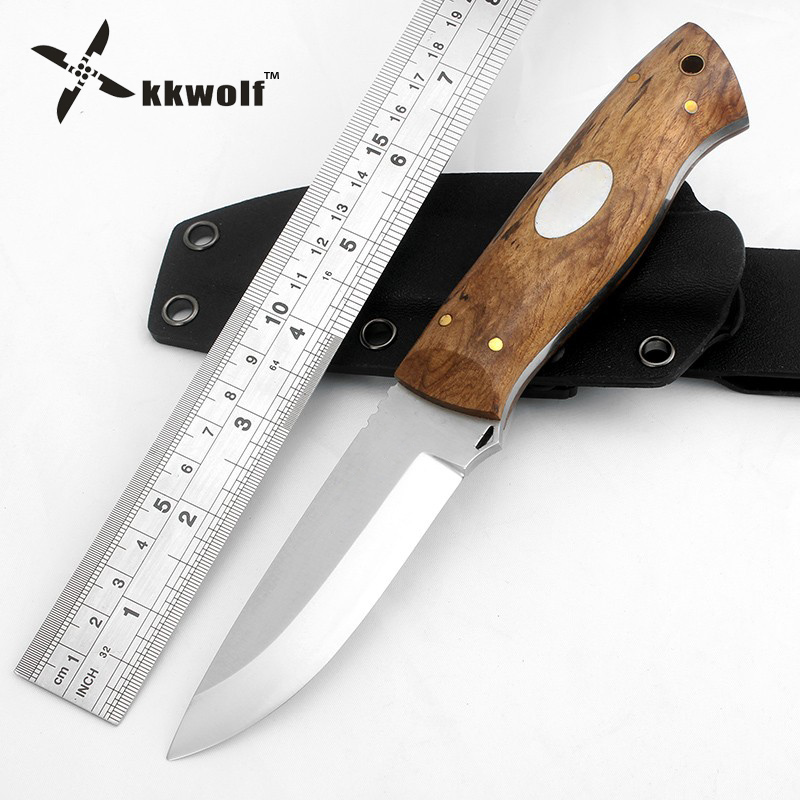 KKWOLF High quality Camping Hunting Knife fixed blade Tactical Survival Knives D2 steel 60HRC Very sharp Best outdoor EDC tool  цены