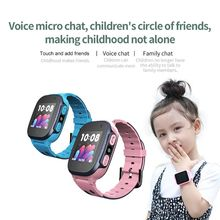 2019 New Children\s Smart Watch Silicone Strap One Button Two-way Call Remote Monitoring With Microphone Wristwatch SOS