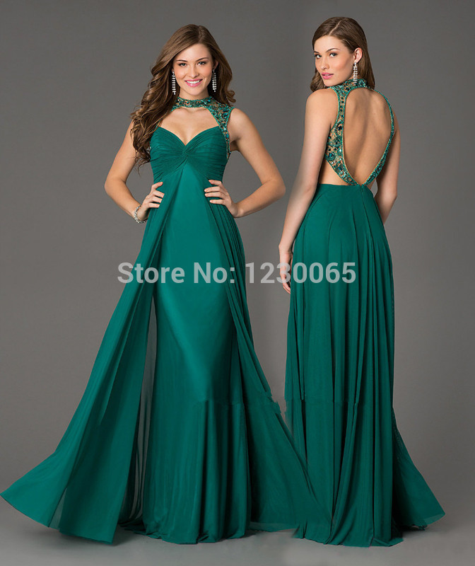 Vestido De Noiva Hot Sell Summer Long Prom 2018 New Fashion Chiffon Backless Sleeveless Party For Formal Gown   bridesmaid     dress