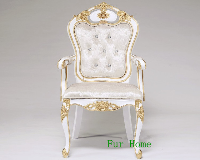 Freezing Price European Neo-classical Solid Wood Carved Wedding Decoration Chair High Back Chair Hotel Leisure Club King Room