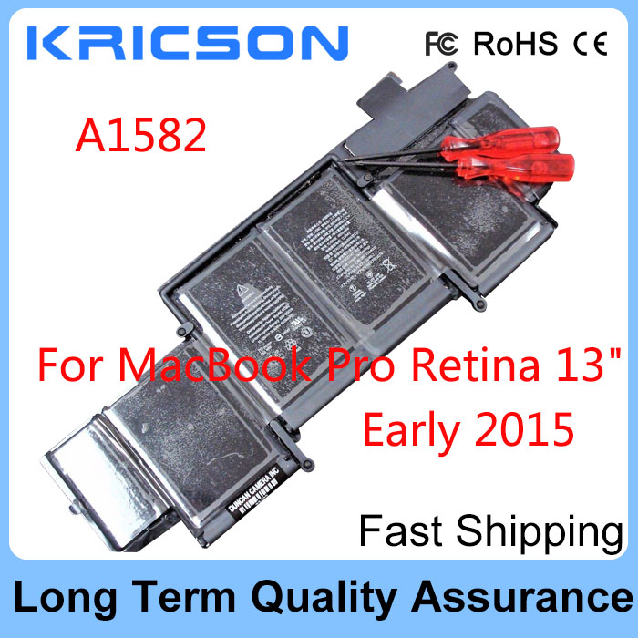 A1582 nova Bateria Para Apple MacBook Pro Retina 13