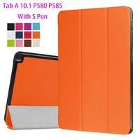 Super Slim PU Leather Case For Samsung Galaxy Tab A 10 1 P580 P585 Cover Case