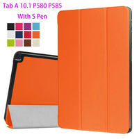 Super Slim PU Leather Case For Samsung Galaxy Tab A 10 1 P580 P585 Cover Case