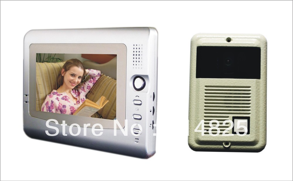 DWE CC RF 7 inch video door phone for villa color video intercom system with handfree monitor video door bell смеситель для кухни omoikiri nagano be 4994044