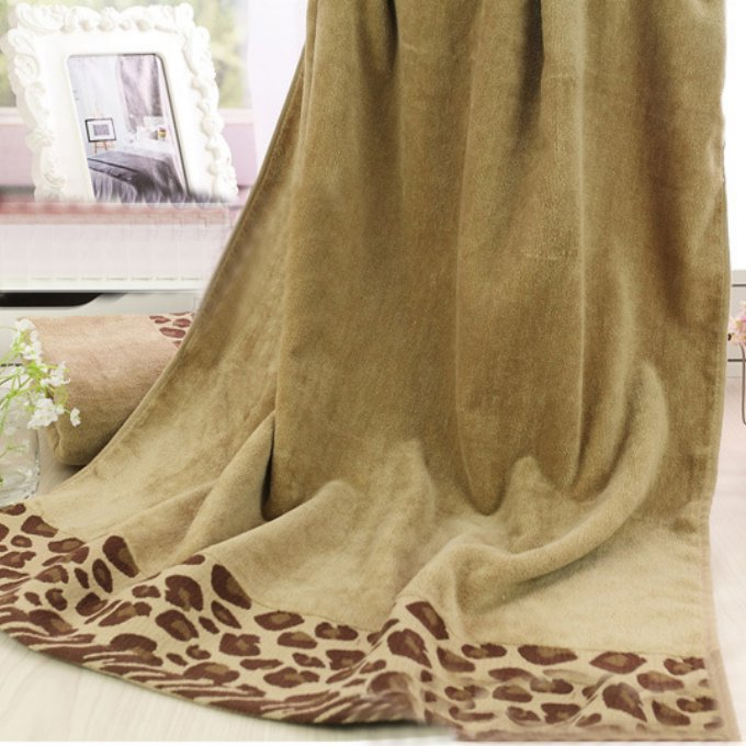 3pcs Decorative Leopard Cotton Hand Bath Towels Sets For Adults Printed Sexy Pattern Beach Terry Bath Bathroom Towels Sets T611