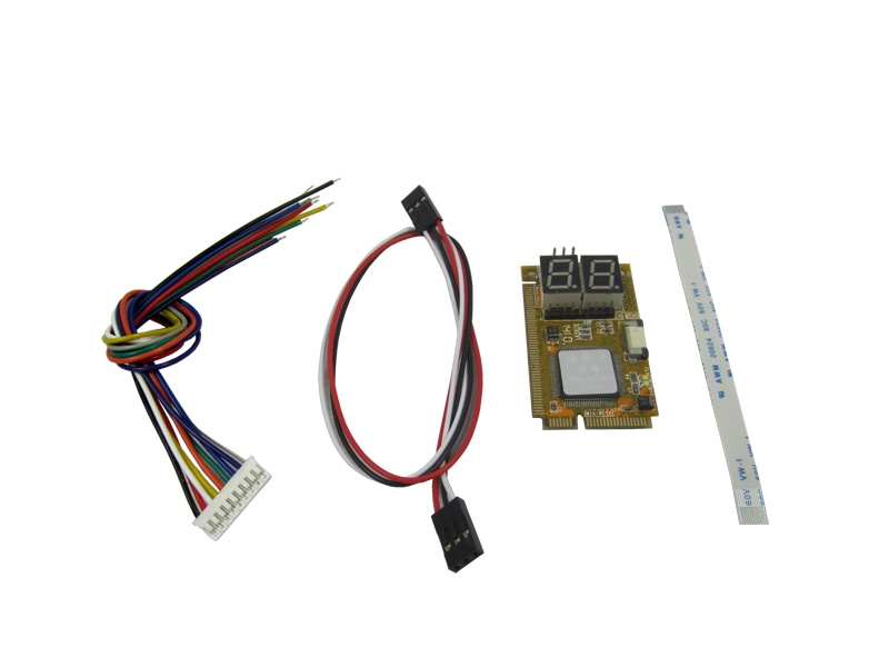 5 IN 1 PCI-E, PCI, LPC, I2C, ELPC diagnostic post tester card For Laptop Motherboard c 程序设计(附光盘1张)
