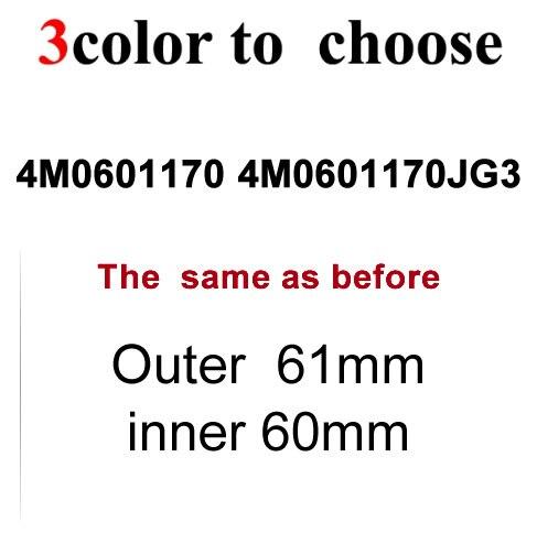 High qualith 20x 61mm Black Gray WHEEL CENTER CAP 4M0 601 170 JG3 for 2017 18