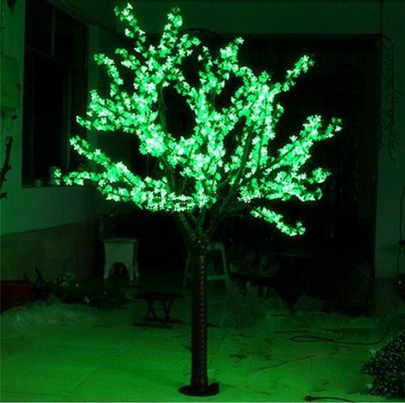 6.6ft 2M Height LED Cherry Blossom Tree Outdoor Home Garden Holiday Christmas Party Wedding Light Decor 1040 LedS 7 Color Option