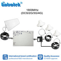 Lintratek 1000sqm B3 LTE 1800mhz Signal Repeater 2G 4G 1800 Booster MGC AGC Amplifier 3pcs Internal Ceiling Antennas Kit #6