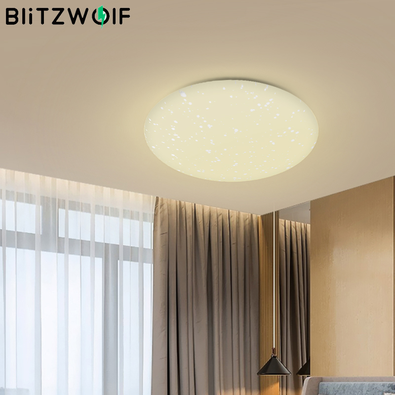 Blitzwolf BW-LT20 24W AC100-240V Smart LED Ceiling Light Mount WiFi APP Remote Control Working With Amazon-Echo For Google Home