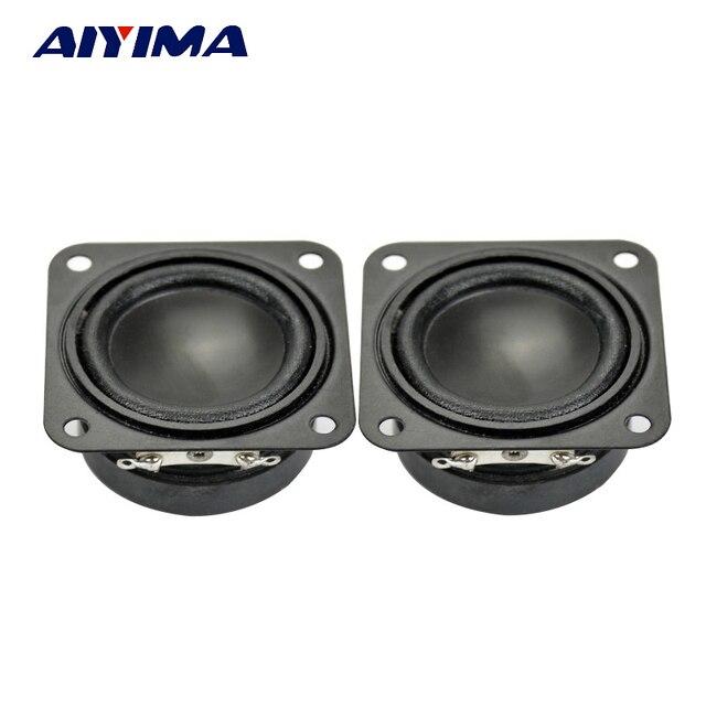 AIYIMA 2 piezas 1,5 pulgadas Mini altavoces de gama completa 4Ohm 2 W PP hierba de borde de Audio altavoz portátil DIY para el Altavoz Bluetooth