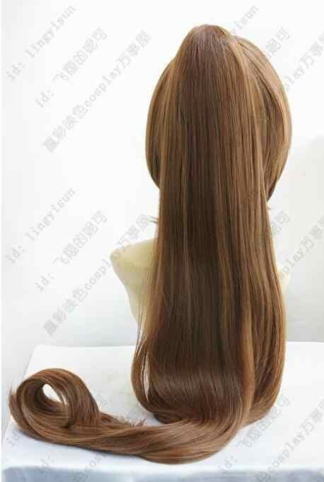 Парик работает! Модный коричневый маскарадный парик для вечеринки волосы длинные на заколке хвост бесплатная доставка