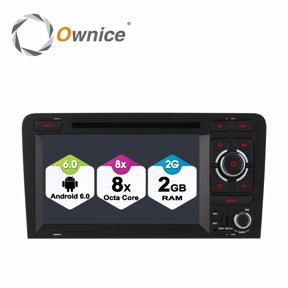 Octa Core Car DVD Player for Audi A3 S3 RS3 2003-2011 2GB RAM Android 6.0 GPS Radio Navigation System 4G SIM LTE
