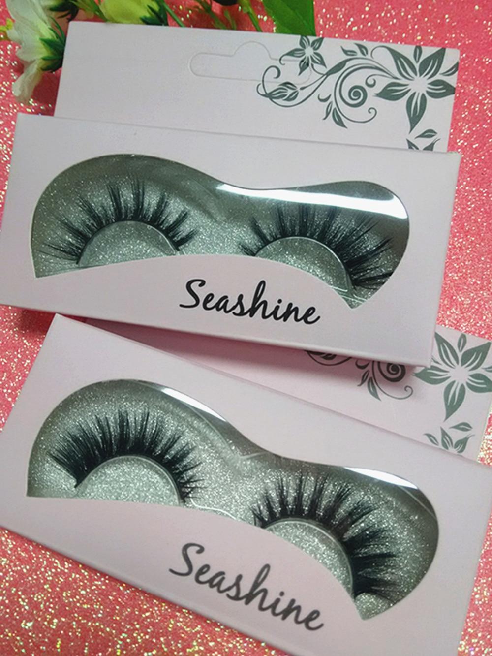 b781bf55aba Detail Feedback Questions about Seashine 10 Pairs 3D Silk Strip Lashes 100%  Handmade False Mink Eyelash South Korea Custom Packaging With Logo Free  Shipping ...