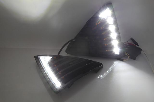 DRL Daytime Running Lights 12V LED Fog lamp For Ford Focus