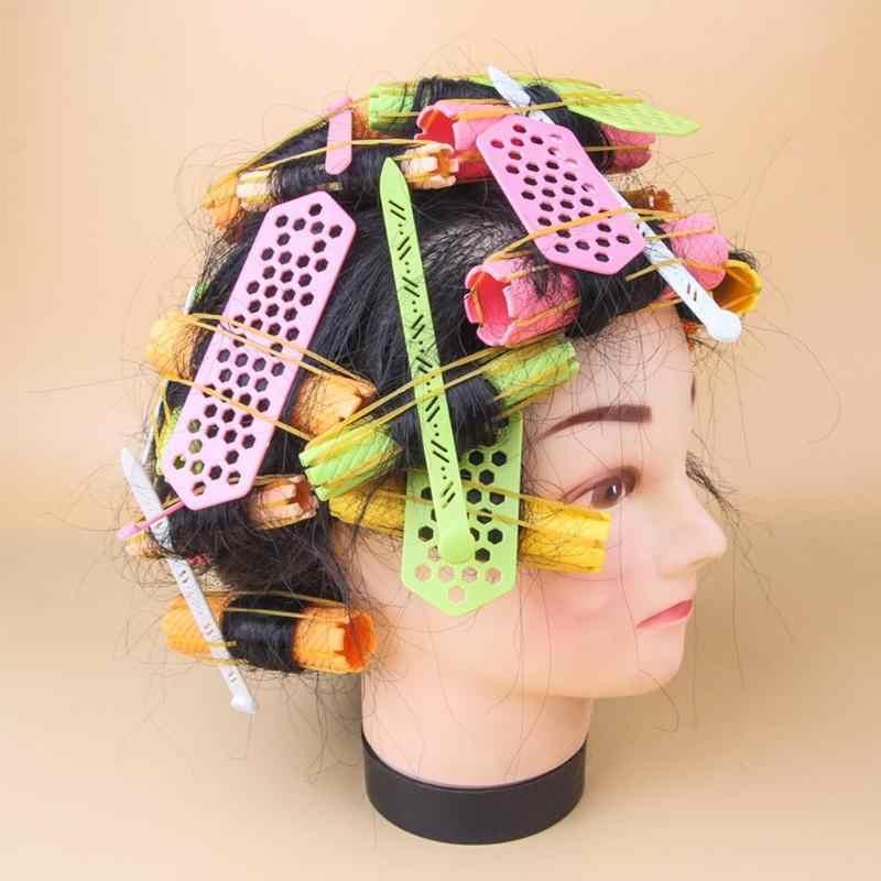 Новая полая заколка в форме сердца, пластиковая вставка, заколка для завивки волос, набор для салонов G0323
