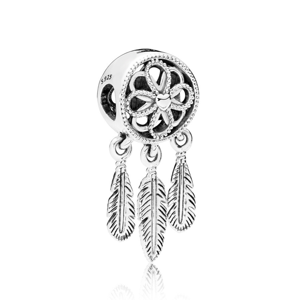 NEW 100% 925 Sterling Silver Spiritual Dream catcher Dang Charm Bead Fits Original Bracelets DIY Jewelry For Mother GiftNEW 100% 925 Sterling Silver Spiritual Dream catcher Dang Charm Bead Fits Original Bracelets DIY Jewelry For Mother Gift