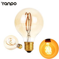 Dimmable E27 Edison Led Filament Bulb G80 AC 220V Global Light Bulb 4W Cear Glass Indoor