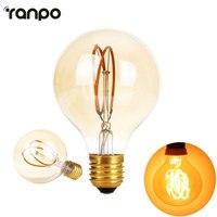 Możliwość przyciemniania E27 Edison Żarówka Led G80 AC 220 V Globalnego światła Cear Szkła Kryty Lampy Świeca żarówki 4 W Oświetlenie Dla Home Decor