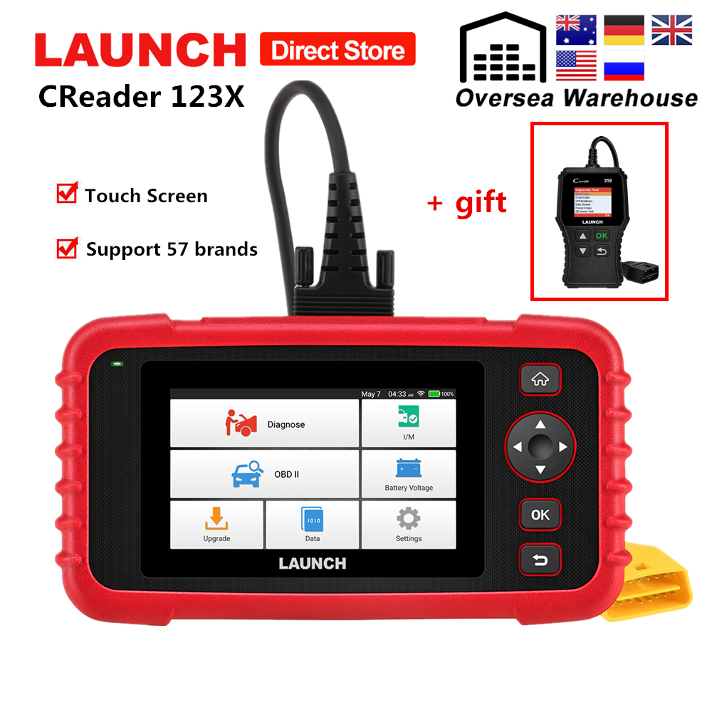 New Lauch X431 CRP123X OBD2 Car Scanner For Engine ABS Airbag SRS Transmission Diagnostic Tool CRP123 X Free Update pk CRP123E
