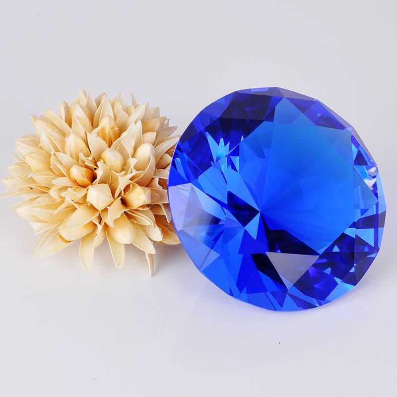 8cm Crystal Glass Cut deimantiniai figūrėlės miniatiūrai Craft Gift Feng Shui Vestuvių renginiai namų stalo dekoravimui