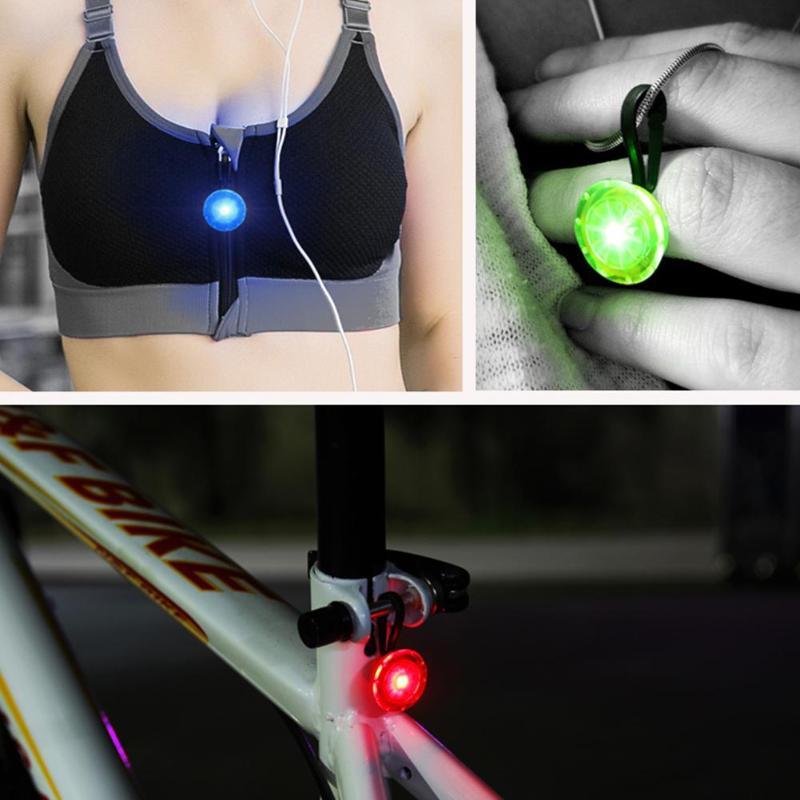 Luminescent Mini Light Outdoor Sports Mini LED Bicycle Lamp Backpack Zipper Light Pet Flashlights Running Bicycle Lights