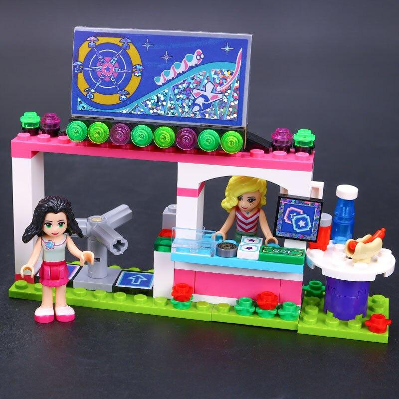 Image 3 - Bricks Compatible Legoingly Friends Amusement Park Blocks Roller Coaster Figure Model Toys Hobbie Children Girls-in Blocks from Toys & Hobbies