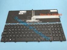 Dell inspiron 15 5000 시리즈 용 새 라틴 스페인어 키보드 15 5551 5552 5555 5558 5559 7559 백라이트가있는 라틴 키보드