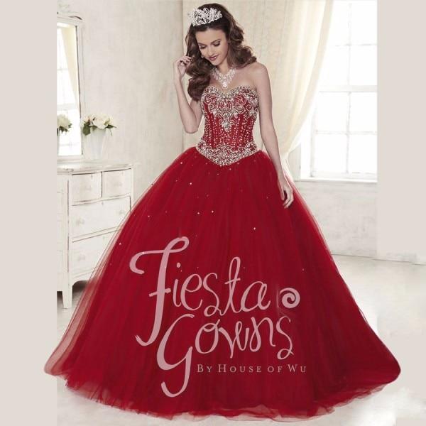 Red Burgundy Quinceanera Dress Ball Gowns 2017 Vestidos De ...