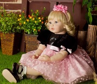 Popular reborn vinyl silicone baby dolls accompany handmade lifelike princess toddler doll kid high end christmas new year gifts