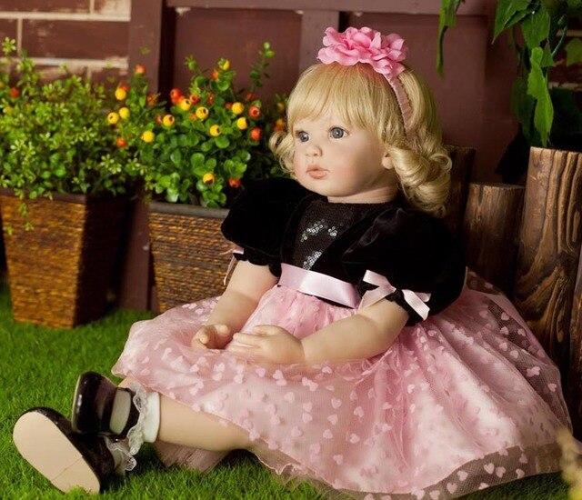 Popular reborn vinyl silicone baby dolls accompany