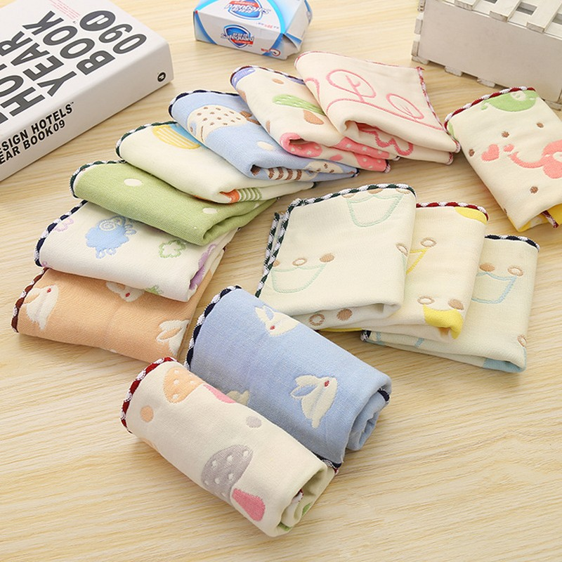 2017 New Four layers 100% Pure Cotton Baby Towel  Infants Gauze Comfort Cute Cartoon  Kids Soft Face  Towel