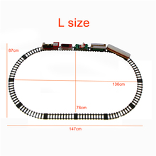 Classic Toys for children Electric Rail Car Mega Circuit Railway Vehicles car with Total length 241cm