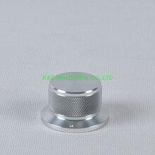1pc 44x34x25mm Sliver Aluminum Vintage Control Knurled knob for Guitar Amplifier Parts