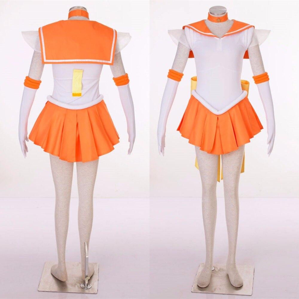 Athemis Anime Sailor Moon Minako Aino / Sailor Venus SuperS Cosplay - Կարնավալային հագուստները - Լուսանկար 3