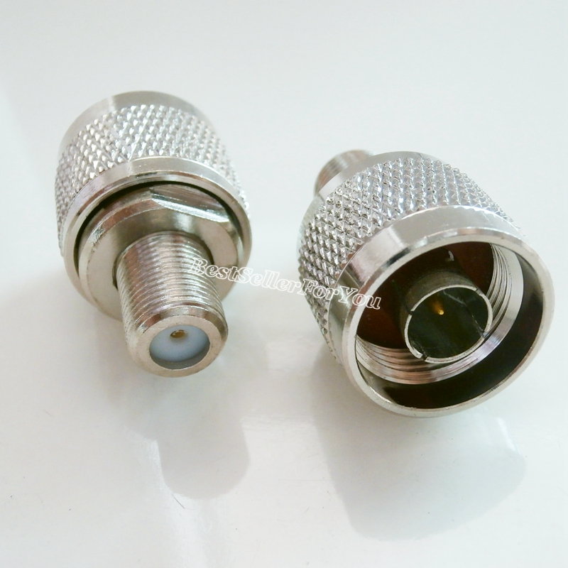 1Pcs N-Type N Male Plug To F Type Female Jack RF Coaxial Adapter Connector