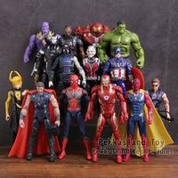 Avengers 3 Infinity War PVC Figures Toys 14pcs/set Thanos Iron Man Captain America Vision Thor Loki Hulkbuster Spiderman