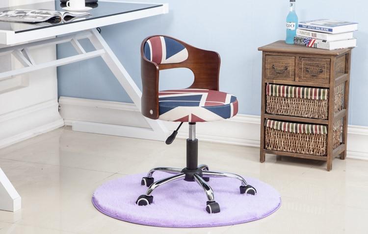 Луи Модные Офисные стулья из цельной древесины подъемная маленькая Квартира Компьютер современный минималистский студенческий обучающий стол Небольшой Поворотный