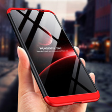 360 Degree Full Protection Hard Case For Huawei Honor 8A Cover shockproof case + glass Film honor8a